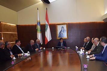 President Warrak meets with a delegation from the Koura Municipalities Union