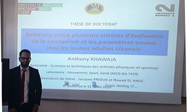 A PhD awarded to Anthony Khawaja