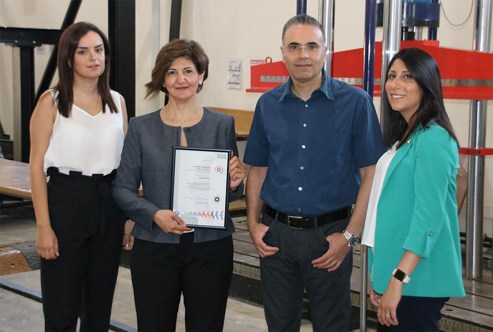 Civil and Environmental Engineering Labs Receive ISO 9001:2015 Certification