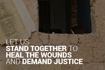 Let us stand together to heal the wounds and demand justice